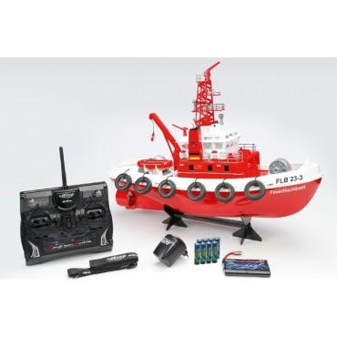 Nave fire boat vigili del fuoco