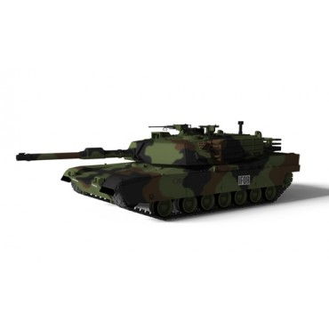 Carro US MBT M1A1 ABRAMS Nato Camuflage RC 1:72 RTR