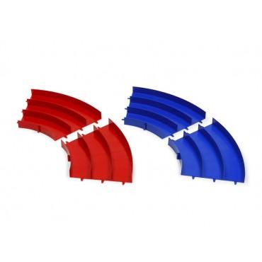 Curve colorate rosse/blu mini4WD 3 corsie Japan Cup