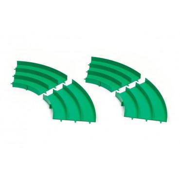 Curve per pista mini4WD 3 corsie verdi