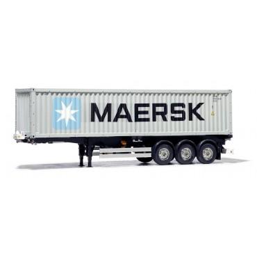 Rimorchio con Container 40ft MAERSK 1:14