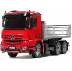 Camion Mercedes AROCS 3348 6×4 Trasporto Terra RC 1:14 Tamiya Red