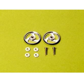 mini4WD Rotelle alluminio 19mm + cuscinetti