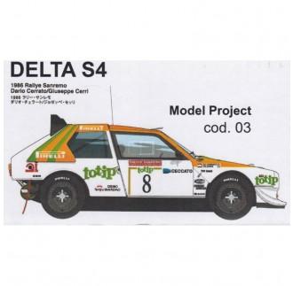 Lancia Delta S4 TOTIP Rally Sanremo 1986 1:24