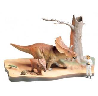 Dinosauro Chasmosauro Diorama 1:35