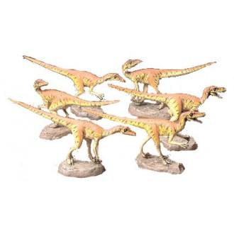 Dinosauro Velociraptor Diorama 1:35